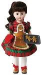 Christmas Cookies Doll Brunette