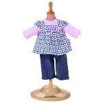 Flowered Tunic Set for 14 inch Play Doll