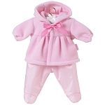 Pink Hooded Fleece Jacket Set for 17 inch Baby Doll