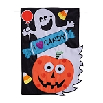 Halloween Candy Crew Garden Flag