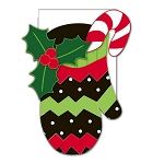 Holiday Mittens House Flag