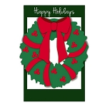 Holiday Wreath Garden Flag