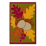 Autumn Oaks Garden Flag
