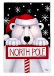 North Polar Bear Garden Flag