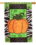 Pumpkin Artistic Blends Garden Flag