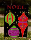 Noel Ornaments Garden Flag