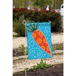 Whimsical Carrot Garden Flag