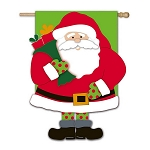 Santa is Here Garden Flag