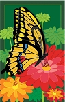 Blossoms and Butterflies House Flag