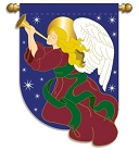 Holiday Angel Garden Flag