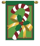 Minty Candy Cane Garden Flag