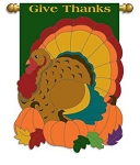 Fall Turkey Garden Flag