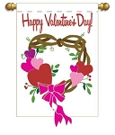Valentine Wreath Garden Flag