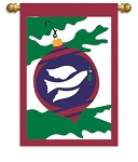 Peace Dove Garden Flag