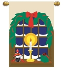 Silent Night Garden Flag