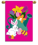 Bunny Treats Garden Flag