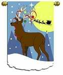 Reindeer Wishes Garden Flag