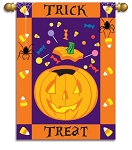 Halloween Treats Garden Flag