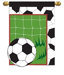 Soccer House Flag