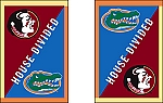 House Divided Garden Flag FSU/UF