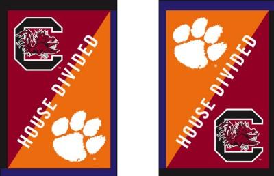House Divided Garden Flag Clemson University/SC University