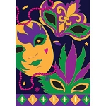 Mardi Gras Celebration Garden Flag