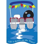 Life is Better on  the Water Garden Flag