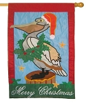 Christmas Pelican House Flag