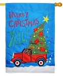 Merry Christmas Truck House Flag