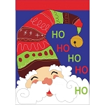 Jolly Santa House Flag