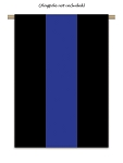 Thin Blue Line - Police Support House Flag #2