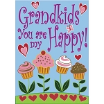 Grandkids - You Are My Happy! Garden Flag