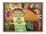 Felt Play Food Taco and Burrito Set