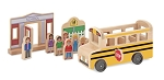 Whittle World School Bus Set