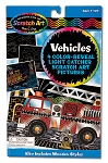 Scratch Art Color-Reveal Light Catcher Pictures - Vehicles