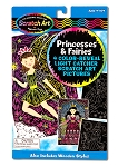Scratch Art Color-Reveal Light Catcher Pictures - Princess and Fairies