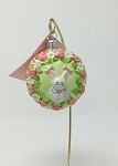 Breen Pink Bunny Girl Easter Medallion Ornament
