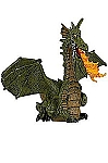 WINGED GREEN DRAGON WITH FLAME
