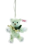 Teddy Bear Christmas Rose Ornament