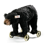Steiff Black Bear on Wheels 034428