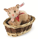 Steiff Kitten Ginny in Basket
