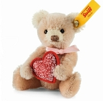 Steiff Mini Pink Teddy Bear With Heart