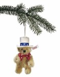 Steiff First American Teddy Christmas Ornament