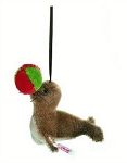 Steiff Holiday Seal with Ball Ornament