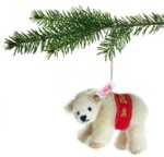 STEIFF MOHAIR POLAR BEAR ORNAMENT