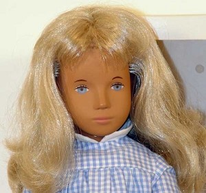 Sasha Blonde Gingham 107  Doll