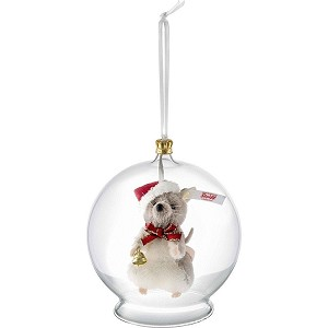 Steiff Christmas Mouse In Bauble Ornament