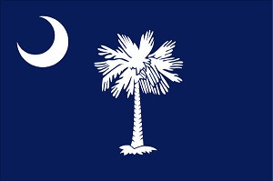 State of South Carolina Garden Flag