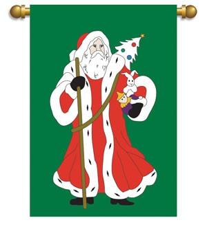 father christmas house flag