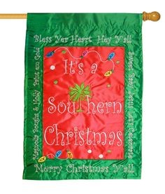 Southern Christmas House Flag